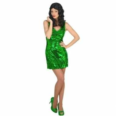 Carnavalskleding st. patricksday jurk groen voor dames