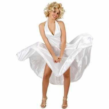 Carnavalskleding wit filmster jurkje voor dames
