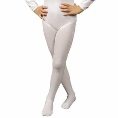 Carnavalskleding witte kinder panty