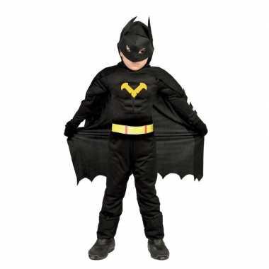 Carnavalskleding zwart batman pak