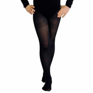 Carnavalskleding zwarte kinder panty