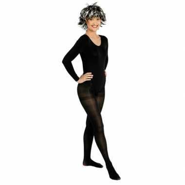 Carnavalskleding zwarte panty voor dames