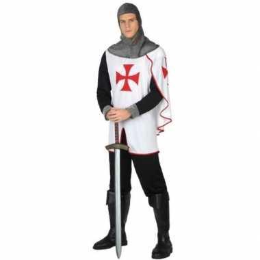 Carnavalskostuum middeleeuwse kruistocht ridder voor herencarnavalskl