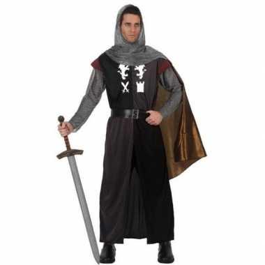 Carnavalskostuum middeleeuwse ridder voor herencarnavalskleding