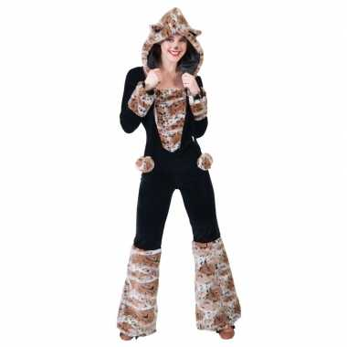 Carnavalskostuum panter jumpsuit voor damescarnavalskleding