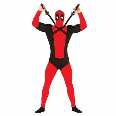 Carnavalspak mutant rood met zwartcarnavalskleding