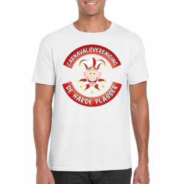 Carnavalsvereniging de harde plasser brabant heren t-shirt witcarnava