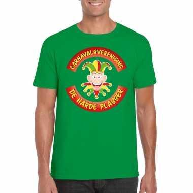 Carnavalsvereniging de harde plasser limburg heren t-shirt groencarna