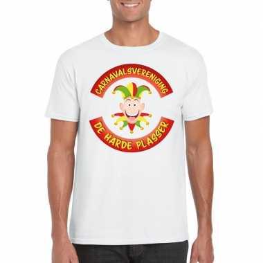 Carnavalsvereniging de harde plasser limburg heren t-shirt witcarnava