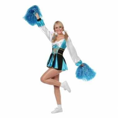 Cheerleader pakje aqua vrouwencarnavalskleding
