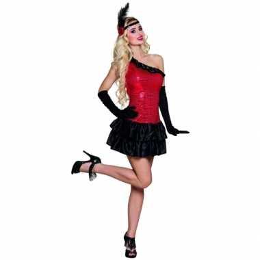 d3875e15cbe2f5 Compleet flapper kostuum rood zwartcarnavalskleding ...