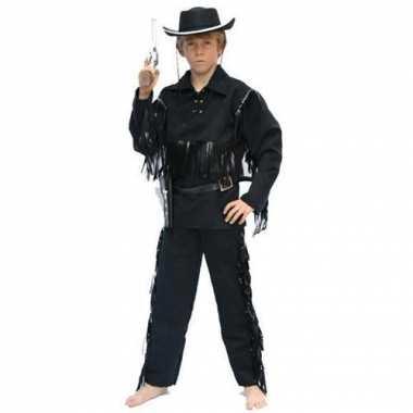 Cowboy carnavalskleding zwart kind