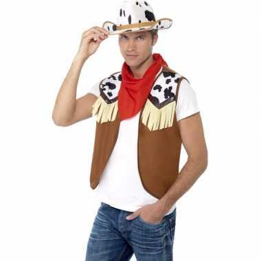 Cowboy verkleedaccessoires set voor herencarnavalskleding