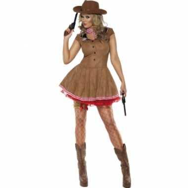 Cowgirl jurk met sjaal voor damescarnavalskleding