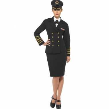 Dames kapitein kostuumcarnavalskleding