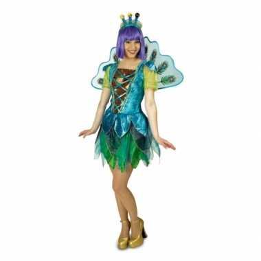 Dames peacock pauw kostuum carnavalskleding