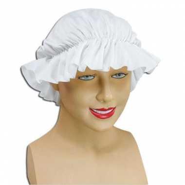 Dienstmeisje wit mutsjecarnavalskleding