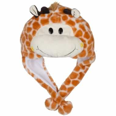 Dierenmuts girafje voor kinderencarnavalskleding
