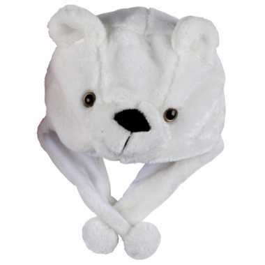 Dierenmuts ijsbeertje voor kinderencarnavalskleding