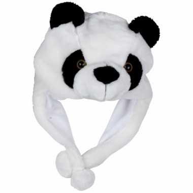 Dierenmuts pandaatje voor kinderencarnavalskleding