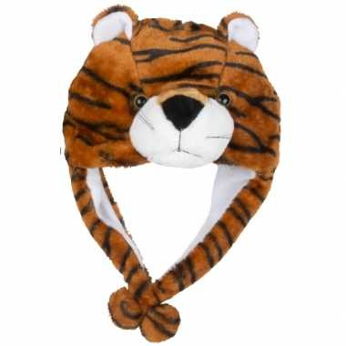 Dierenmuts tijgertje voor kinderencarnavalskleding