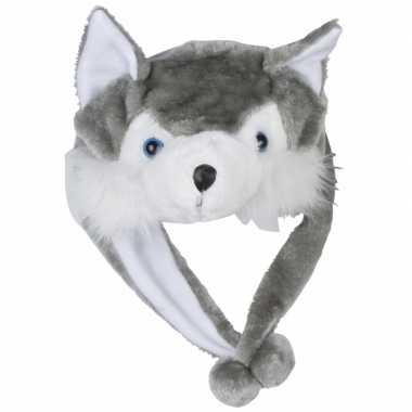 Dierenmuts wolfje voor kinderencarnavalskleding