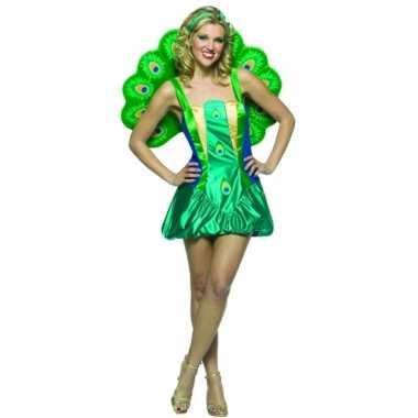Dierenpak pauwen kostuum voor dames carnavalskleding