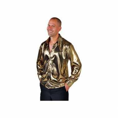 Disco blouse goud voor herencarnavalskleding