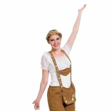 Duitse blouse wit voor damescarnavalskleding