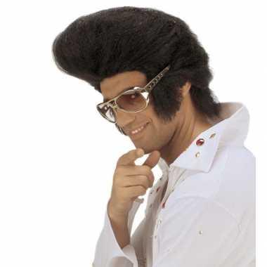 Elvis pruik met vetkuif carnavalskleding