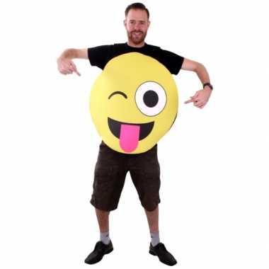 Emoticon pak van foam knipoog voor volwassenencarnavalskleding