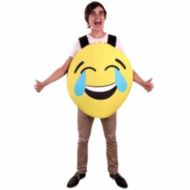 Emoticon pak van foam lachende smiley voor volwassenencarnavalskledin