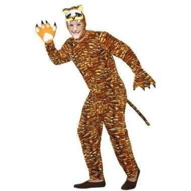 Feest/carnaval dieren kostuum tijger voor volwassenencarnavalskleding