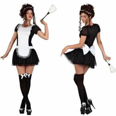 Feest/carnaval kamermeisje/schoonmaakster verkleedoutfit voor damesca