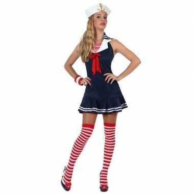 Feest/carnaval matrozen verkleedoutfit jurkje voor damescarnavalskled