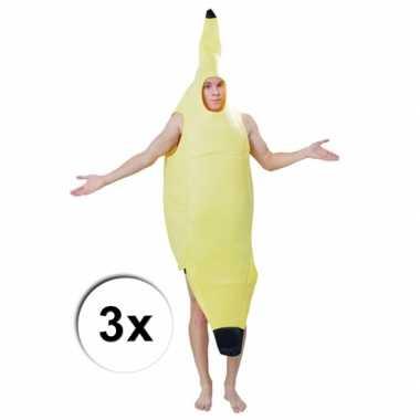 Feest groepskostuum bananentroscarnavalskleding