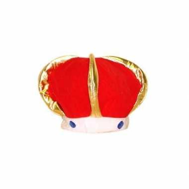 Feest hoed pluche koningskroon voor volwassenencarnavalskleding