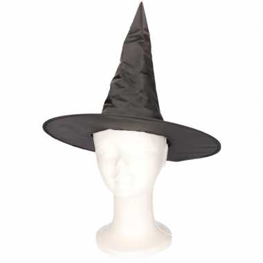 Feest zwart heksenhoedje voor kinderencarnavalskleding