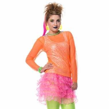 Roze Carnavalskleding Dames.Felroze Ruches Rokje Voor Damescarnavalskleding Carnavalskleding In Nl