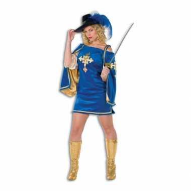 Fluwelen musketiers jurk voor vrouwencarnavalskleding
