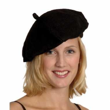 Franse baretten zwartcarnavalskleding