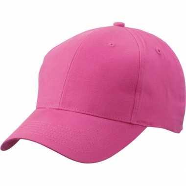 Fuchsia baseball cap van katoencarnavalskleding