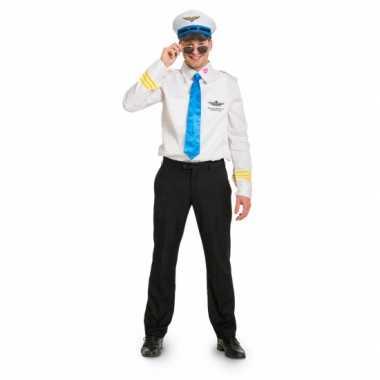 Funny piloten verkleedkleding voor heren carnavalskleding
