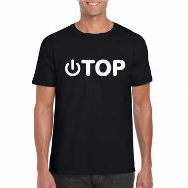 Gay shirt power top zwart herencarnavalskleding