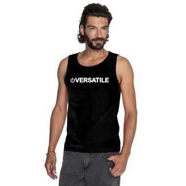 Gay singlet shirt/ tanktop power versatile zwart herencarnavalskledin