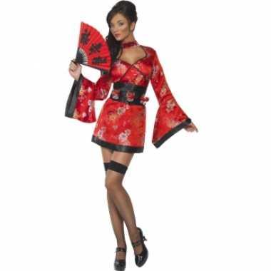 Geisha jurk met shotglaasjes riemcarnavalskleding