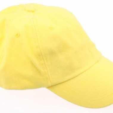 Gekleurde gele baseballcapscarnavalskleding