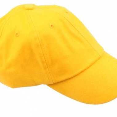 Gekleurde goudgele baseballcapscarnavalskleding