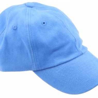 Gekleurde lichtblauwe baseballcapscarnavalskleding