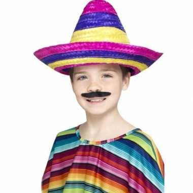 Gekleurde mexicaanse sombrero kindcarnavalskleding